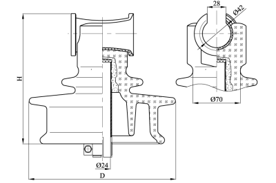 Штыревые стеклянные изоляторы ШСТ 20УД
