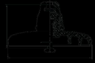 Подвесные стеклянные изоляторы ПС 120Б 112V