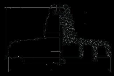 Подвесные стеклянные изоляторы ПС 120Б 212W