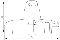 Подвесные стеклянные изоляторы ПС120В 112V