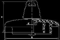 Подвесные стеклянные изоляторы ПС120В 112W