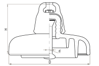 Подвесные стеклянные изоляторы ПС160М 112V