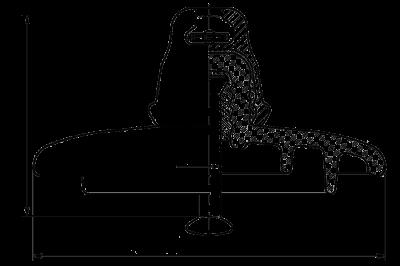 Подвесные стеклянные изоляторы ПС70Е 112W