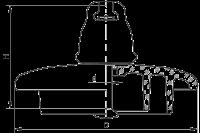 Подвесные стеклянные изоляторы ПС120СС 112W
