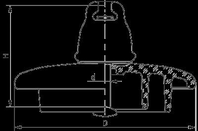 Подвесные стеклянные изоляторы ПС70СС 112W